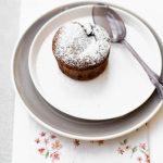 Dal menù d'amour di Aurélie: gateau au chocolat con parfait à l'orange