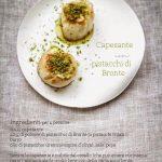 Appunti per una cena dall'aria chic: il secondo, le capesante ai pistacchi di Bronte