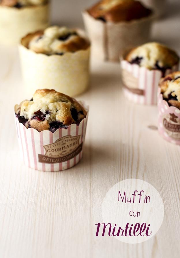 ricetta dei muffin ai mirtilli