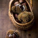 Risotto semintegrale con alloro castagne e caprino e le cose belle dell'autunno