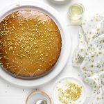 Torta di mandorle, miele e polline