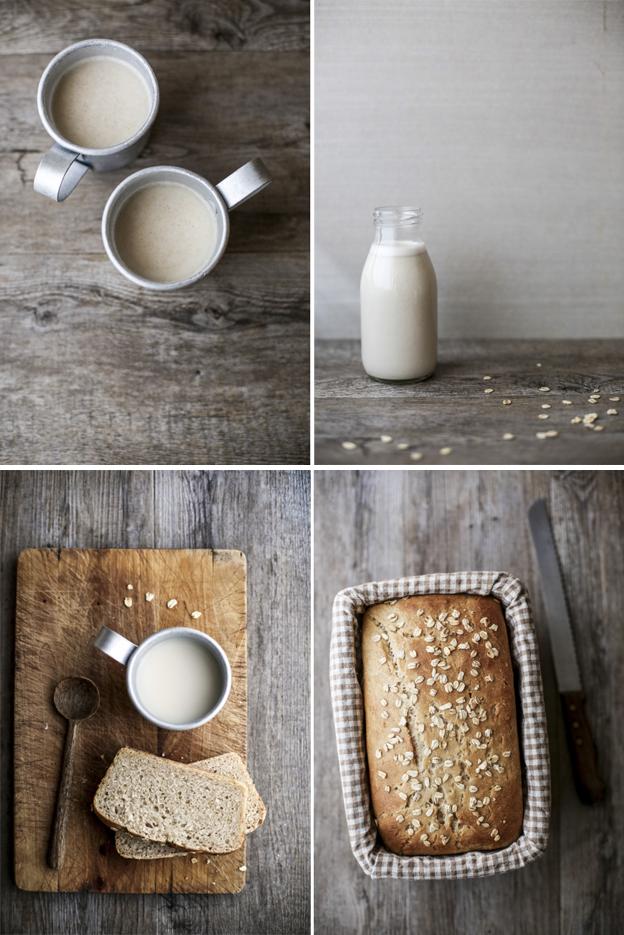 latte d'avena fatto in casa e brioche