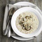 Metti una sera a cena all'improvviso: risotto con funghi porcini e crema di parmigiano