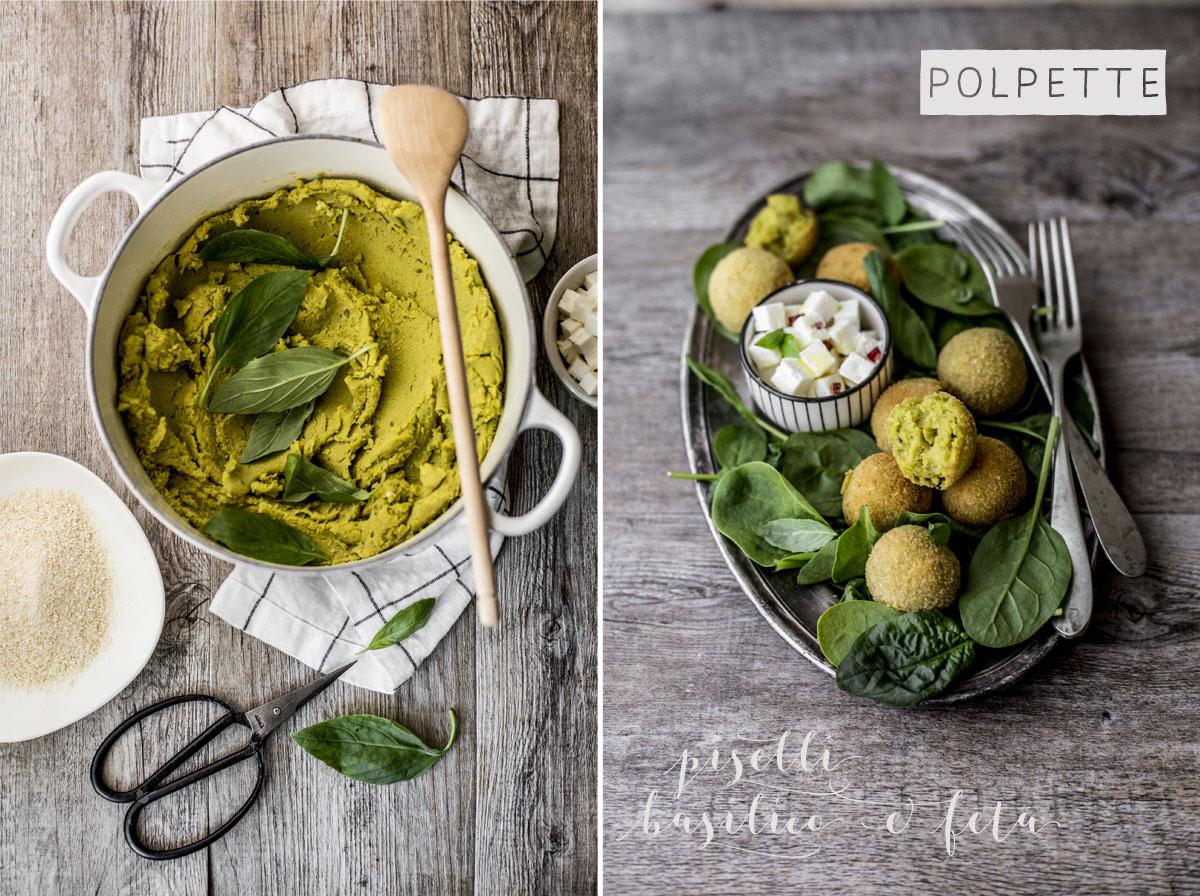 Polpette piselli basilico e feta | Vaniglia Storie di Cucina