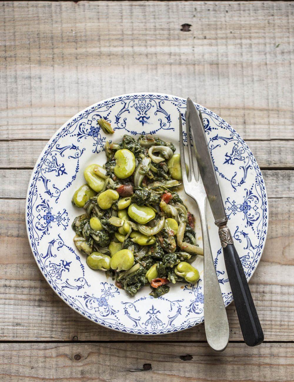 contorno di fave e bieta | Vaniglia Storie di cucina
