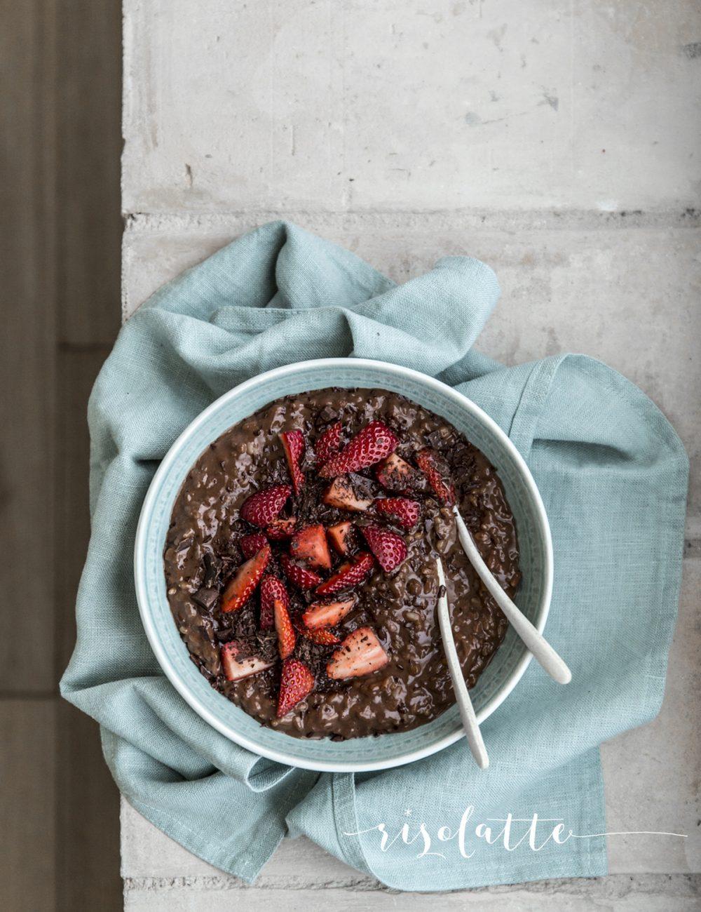 Risolatte cioccolato e fragole | Vaniglia Storie di Cucina