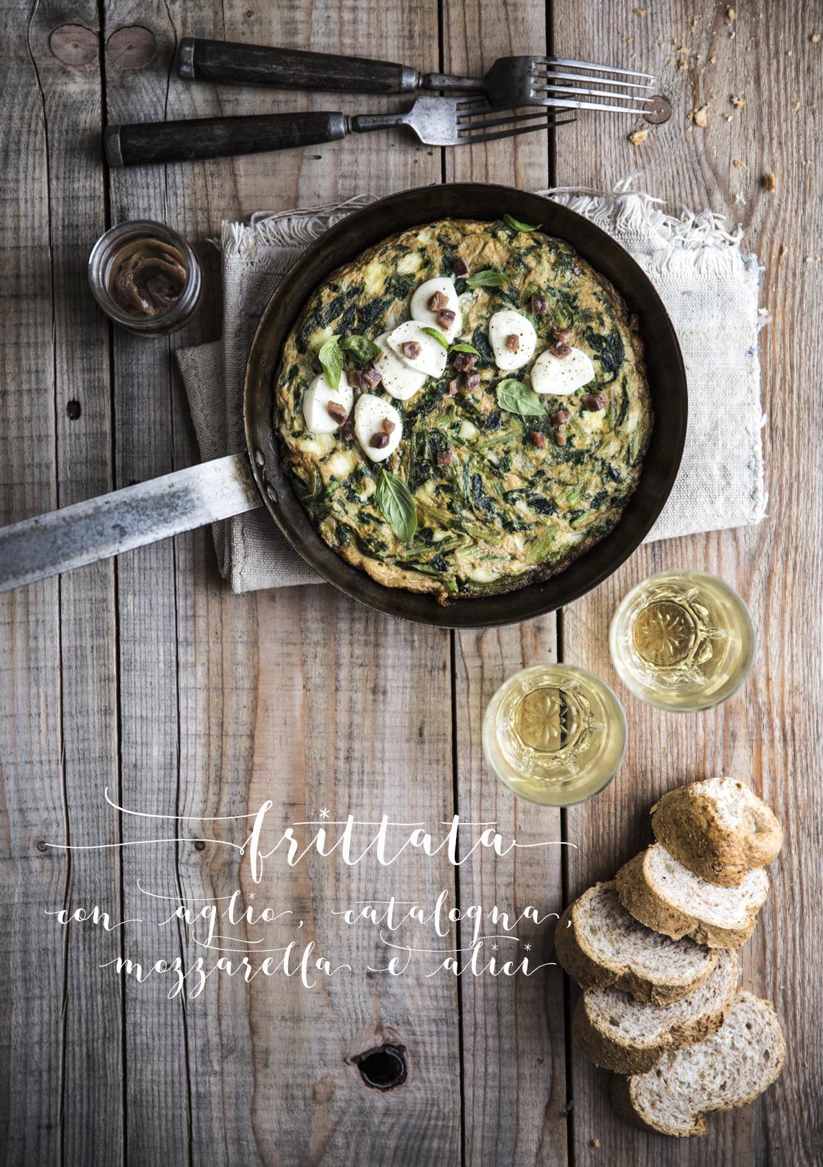 Frittata catalogna alici | Vaniglia storie di Cucina