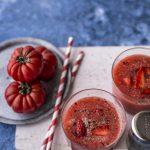Smoothie pomodoro fragole e pepe | Vaniglia Storie di Cucina