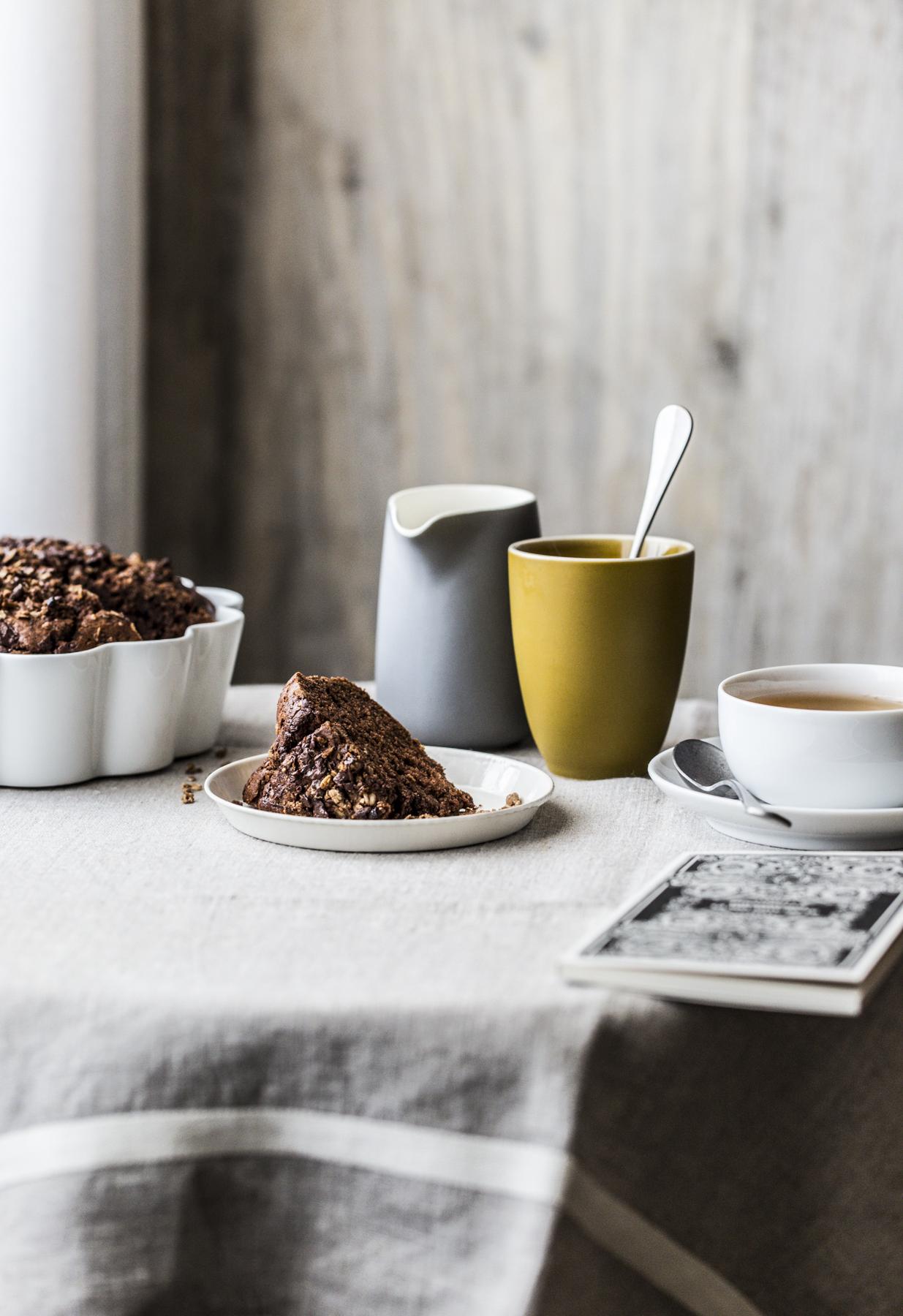 torta al cacao con i cereali croccanti