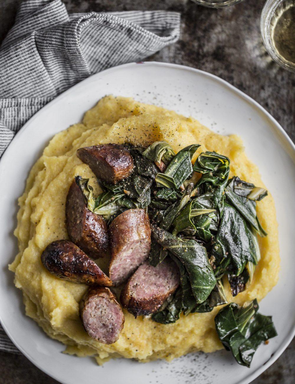 Polenta, bietola e salsiccia - Vaniglia Storie di Cucina