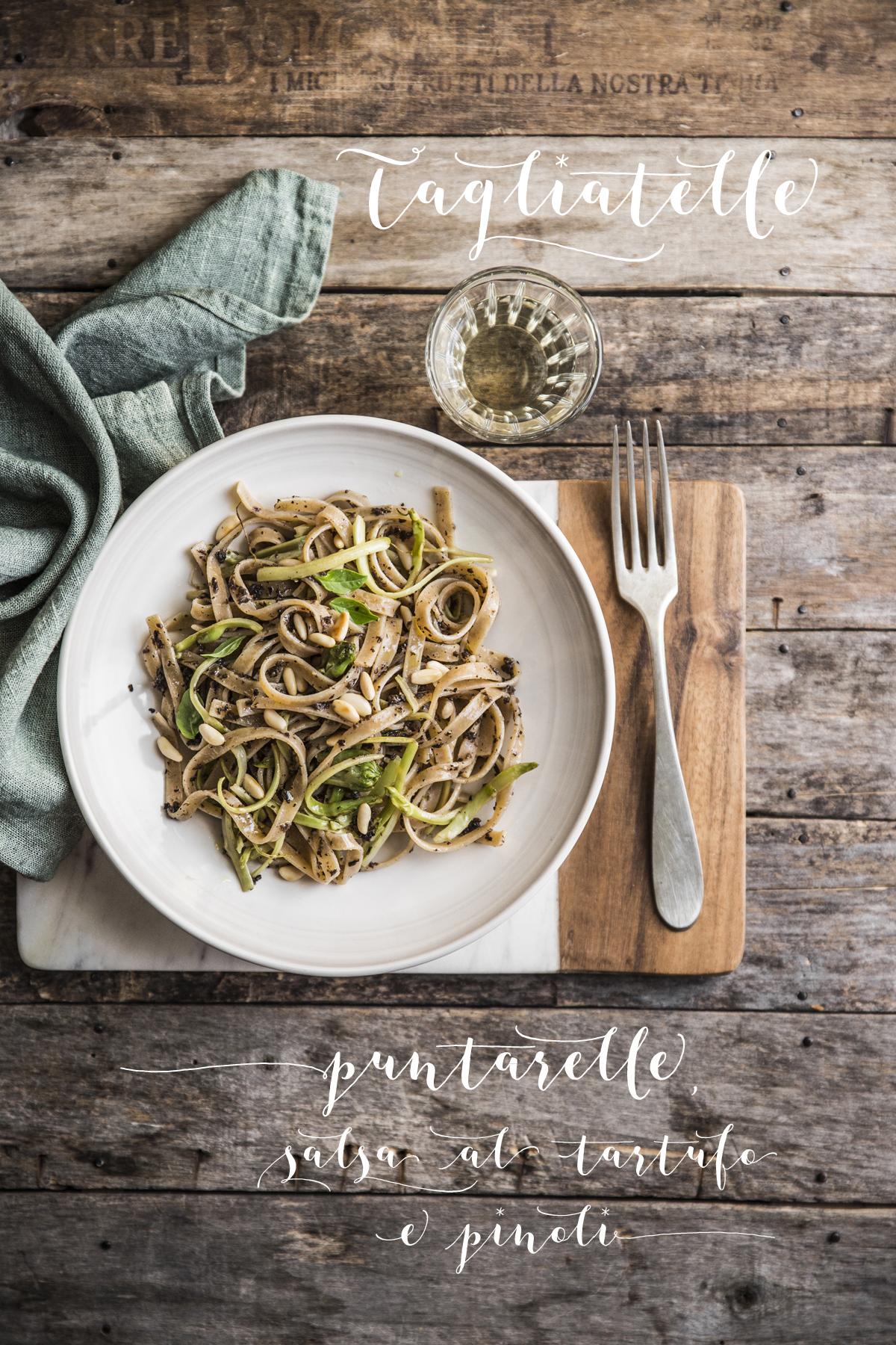 Tagliatelle puntarelle tartufo-Rossella Venezia