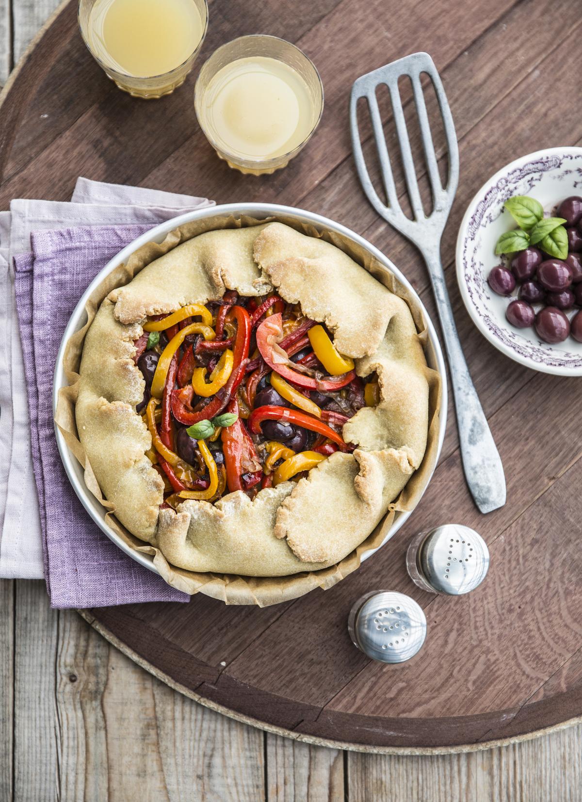 Crostate salate: vegana con peperoni