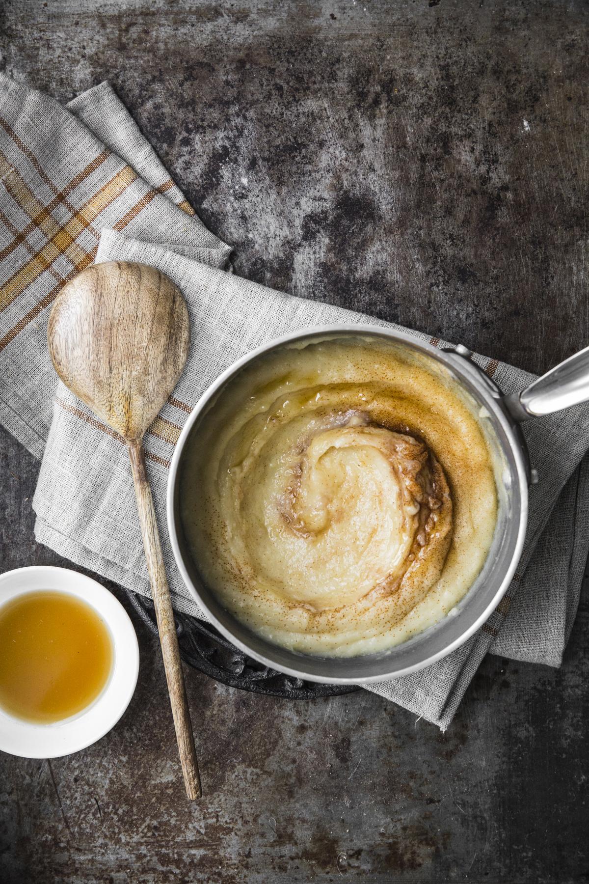 Puré agrodolce di patate al miele e peperoncino
